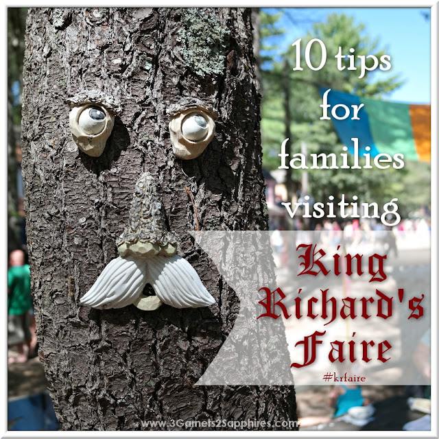 10 tips for families visiting King Richard's Faire in Carver, MA #krfaire