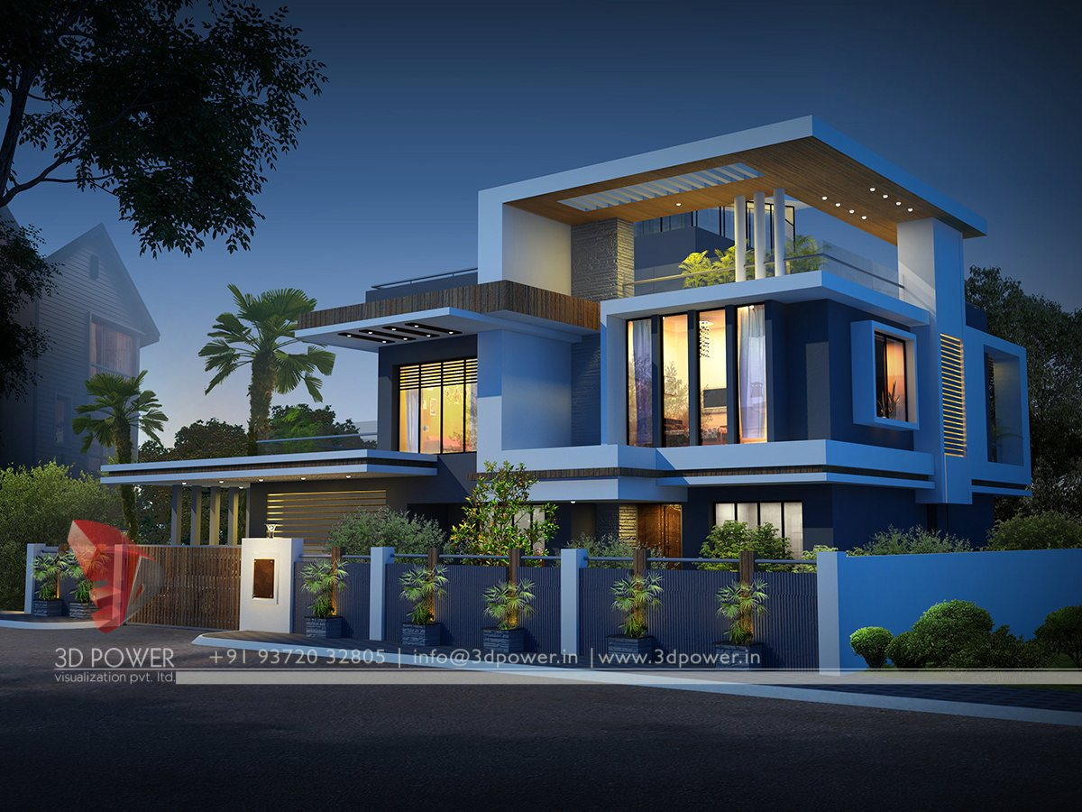 Ultra modern home designs contemporary bungalow exterior for Exterior 3d design