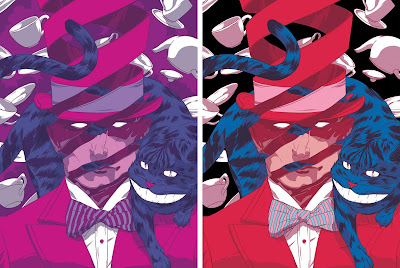 """The Hatter"" Alice In Wonderland Screen Print Standard & Variant Editions by Johnny Dombrowski"