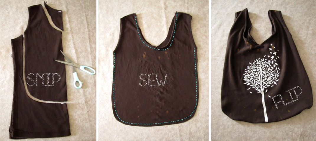 Needle and nest design d i y upcycled tank top toddler tote - How to reuse old clothes well tailored ideas ...