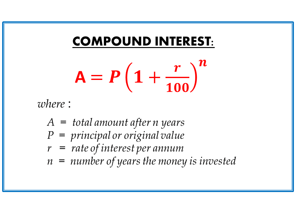 Compound interest homework help