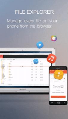 Screenshots of zapya webshare apk