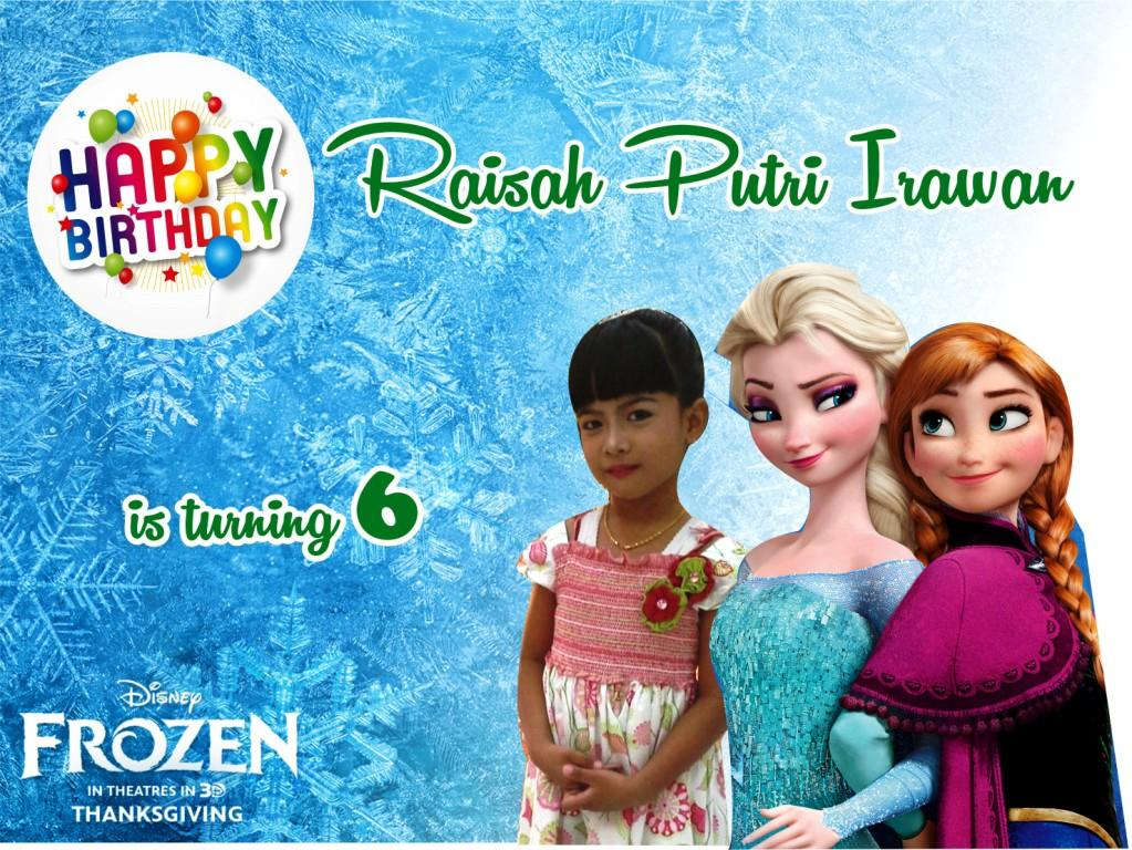 Download Banner Ulang Tahun Tema Frozen