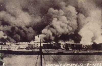 The  Great fire of Smyrna.