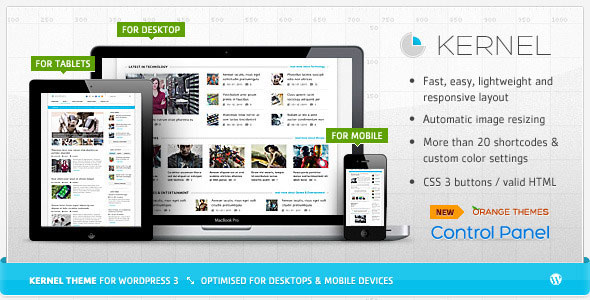 Image for Kernel – Premium Magazine Theme by ThemeForest / Orange-Themes