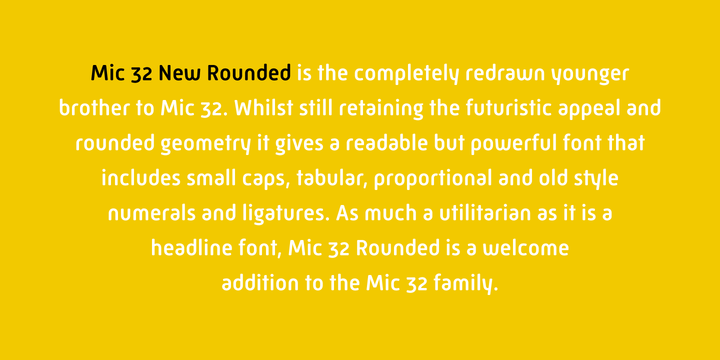 Nice New Font - Mic 32 New Rounded