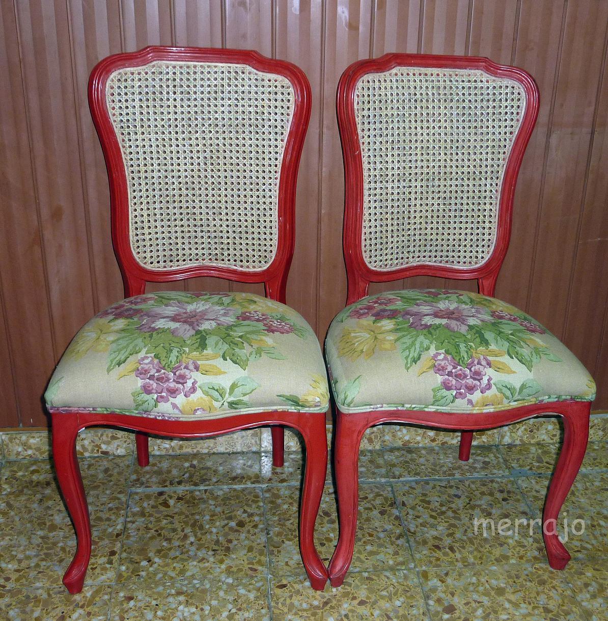 Manualidades merrajo yoli restauraci n de sillas con - Reparacion de sillas de rejilla ...