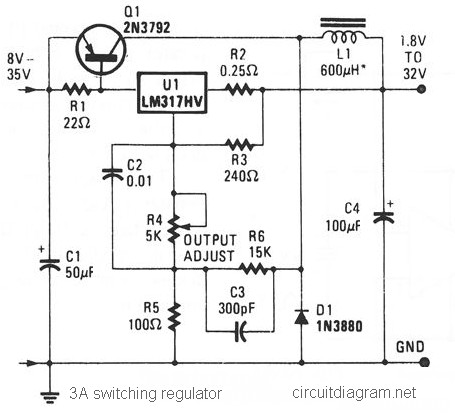 3A Switching Voltage Regulator