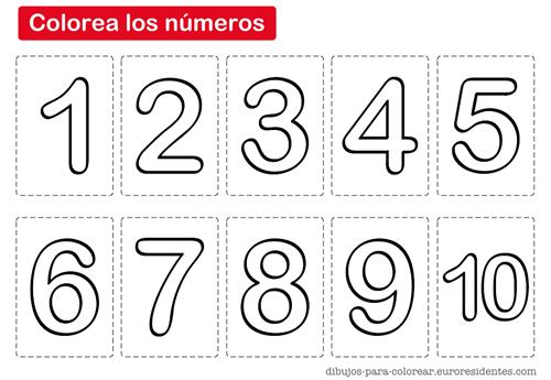 Dibujos para Colorear: Colorear los números