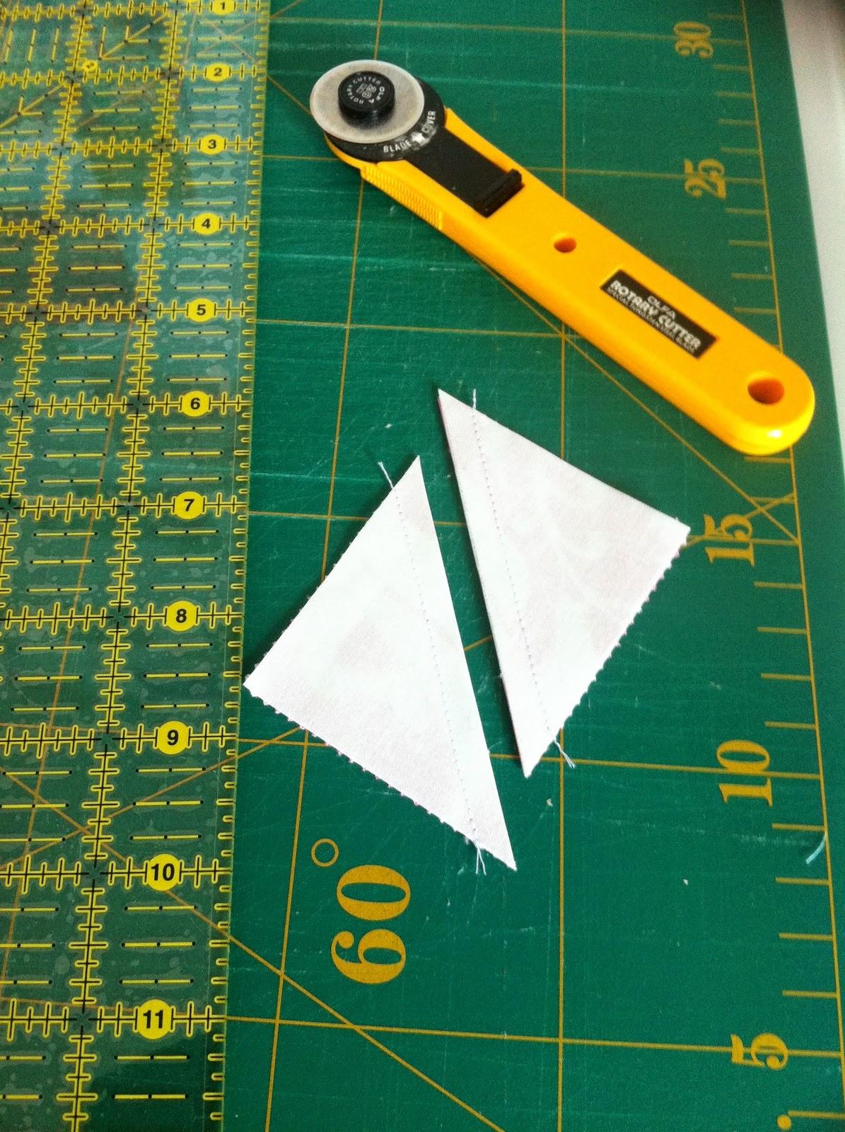 Gesneden driehoekjes