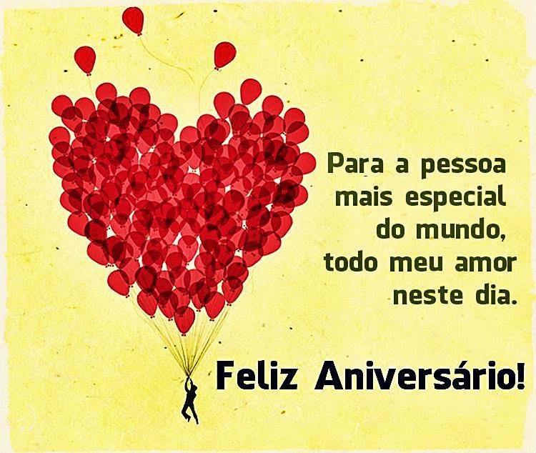 Para A Pessoa Mais Especial Do Mundo Todo Meu Amor Neste Dia Feliz