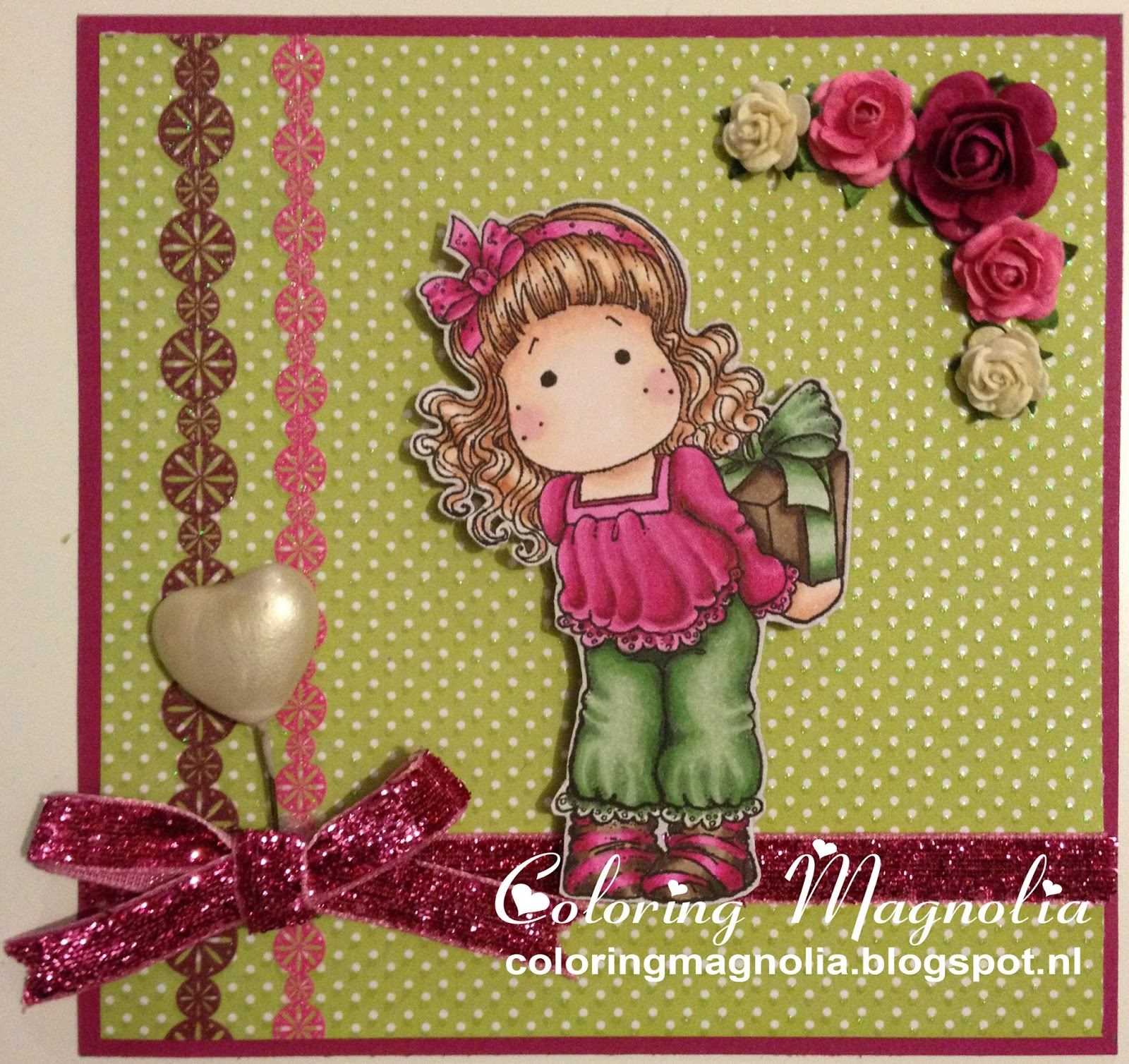 Gift Card Yvonne - Magnolia Stamp 2010 Merry Little Christmas Collection - Secret Tilda