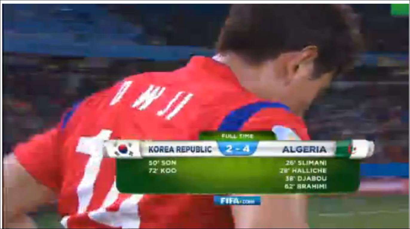 فوز الجزائر على المنتخب الكوري