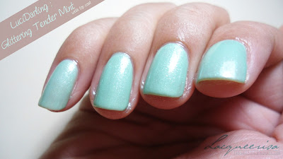 LUCIDarling-Glittering Tender Mint swatch and review