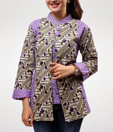 model baju batik kerja wanita model baju batik kerja model