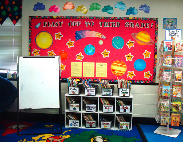 Space Themed Classroom Ideas ~ Sports themed classrooms clutter free classroom