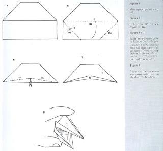 Origami - Dobraduras de papel machê. Bicudo 2.