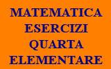 ESERCIZI DI MATEMATICA QUARTA CLASSE ELEMENTARE