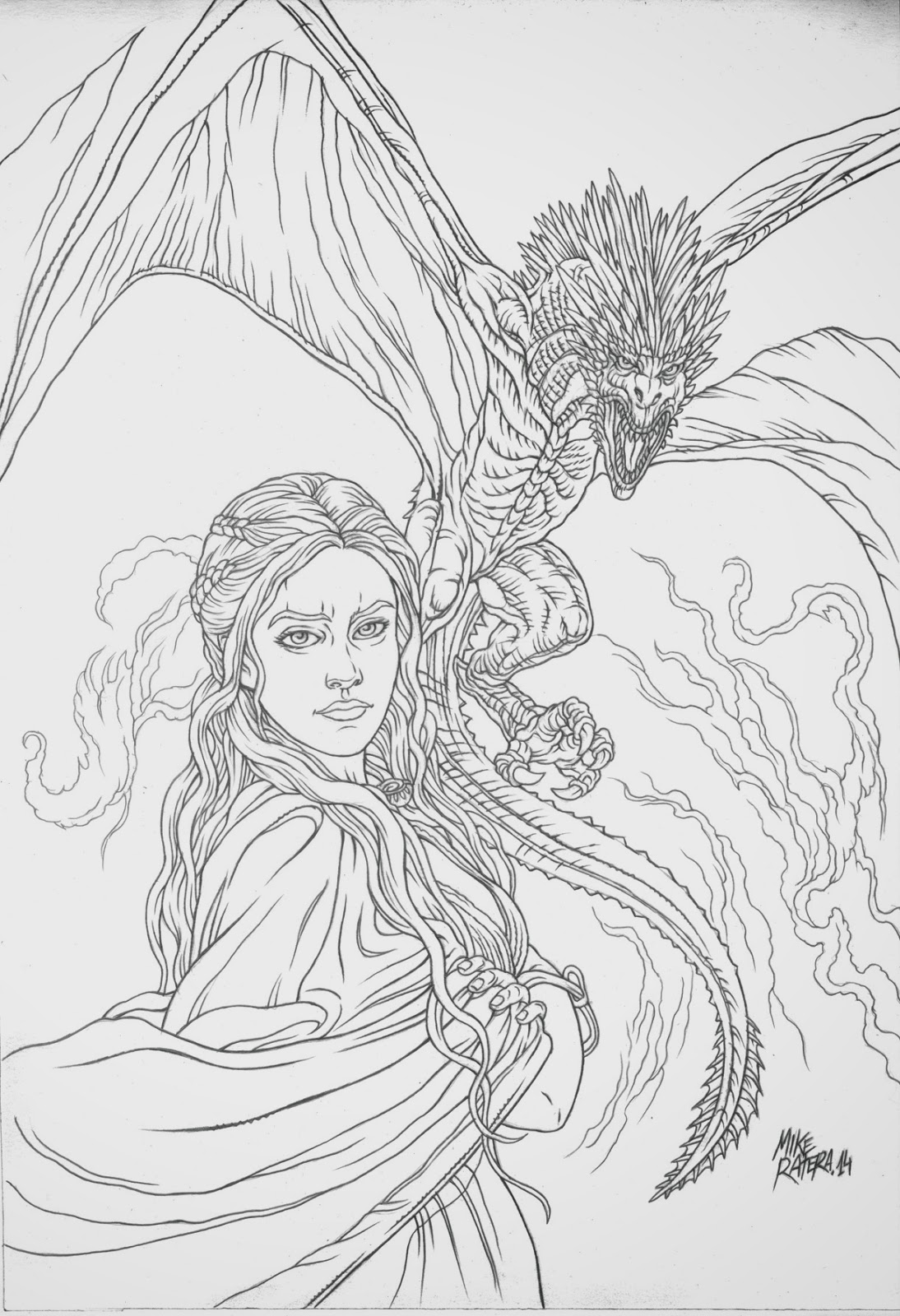 mike ratera artblog  daenerys drawings