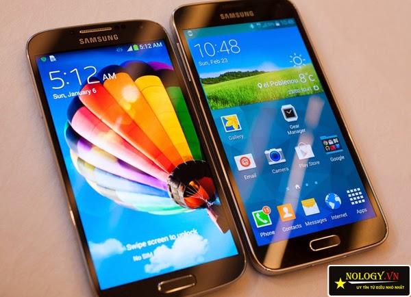 Galaxy S5 và S4.