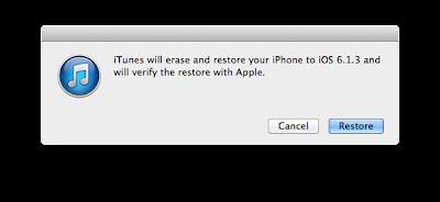 iTunes Restore Process