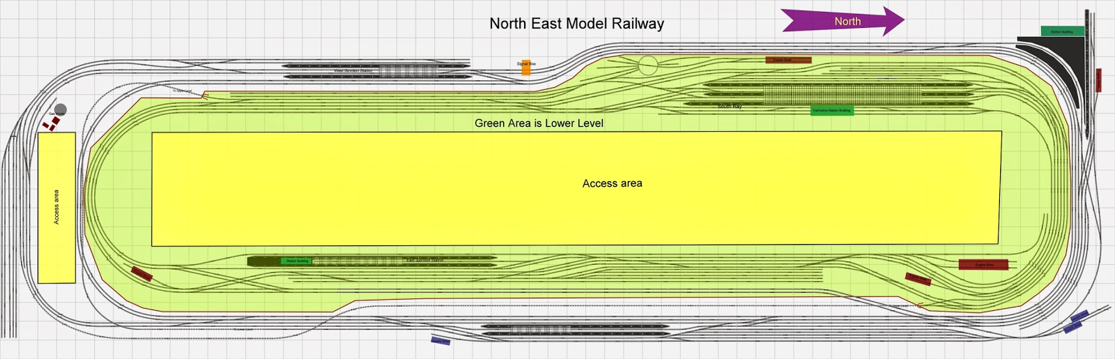 North East Model Railway Trenholme Junction Track Plan
