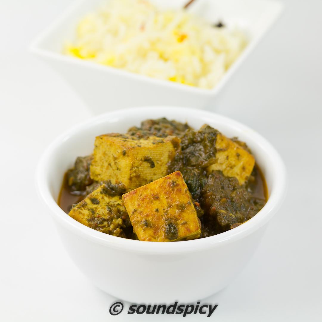 Palak Tofu / Saag Tofu   Sound'spicy