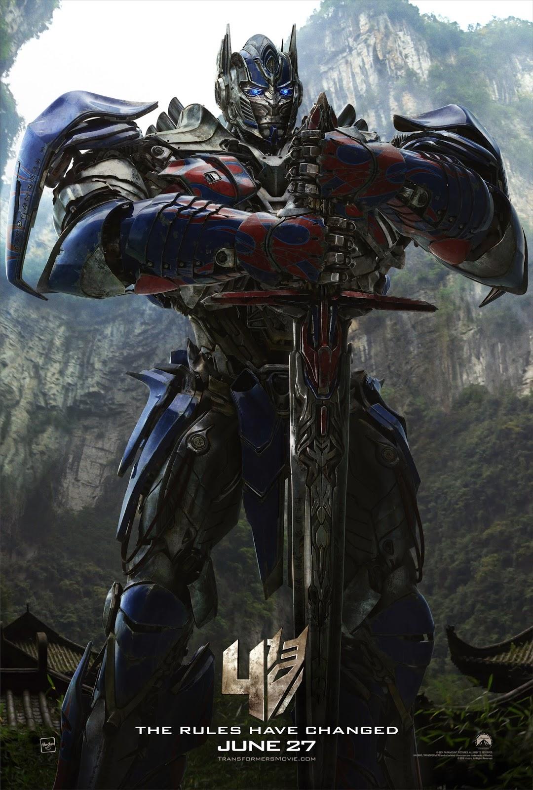 Poster Optimus Prime Transformers: La Era de la Extinción