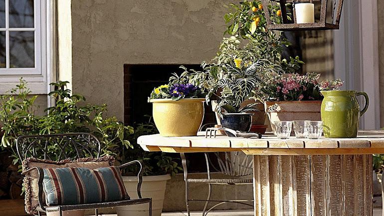 Interior terrace