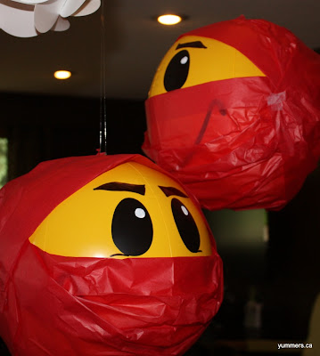 Paso a Paso para hacer Sencilla decoración para fiesta Ninja.
