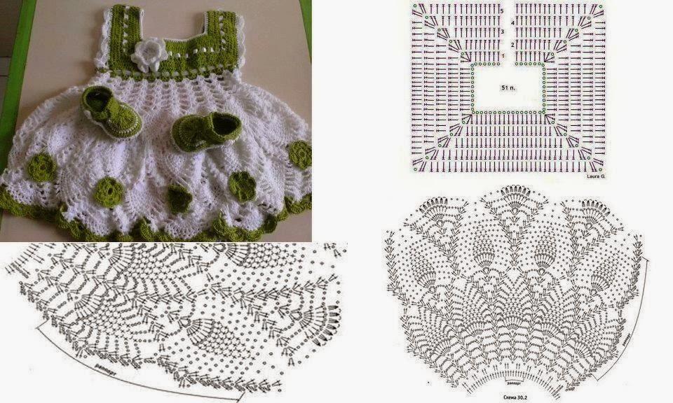 Modelos de vestidos de nina a crochet