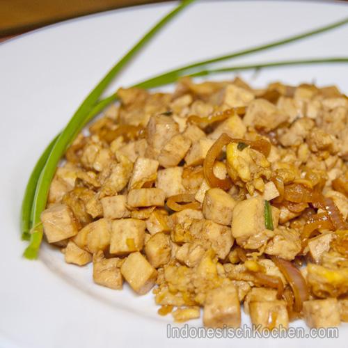 Tofu Orak-arik rezept indonesisch kochen