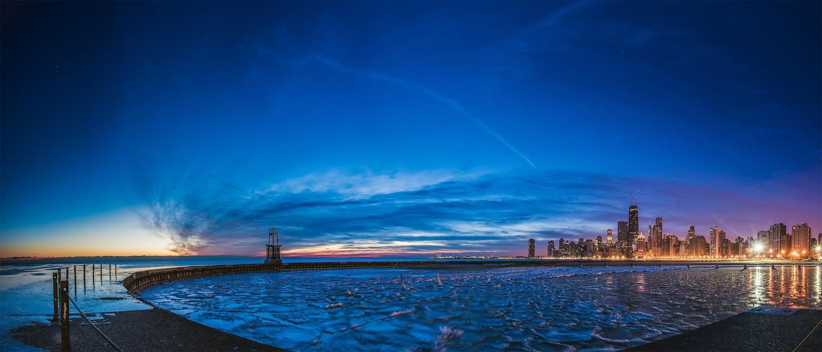 Chicago Winter Sunrise Photo