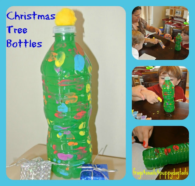 Water Bottle Christmas Trees