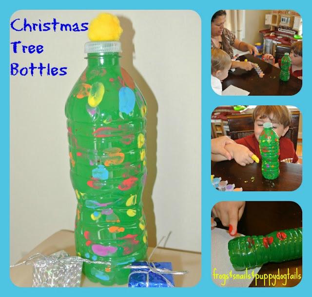 Water Bottle Christmas Trees