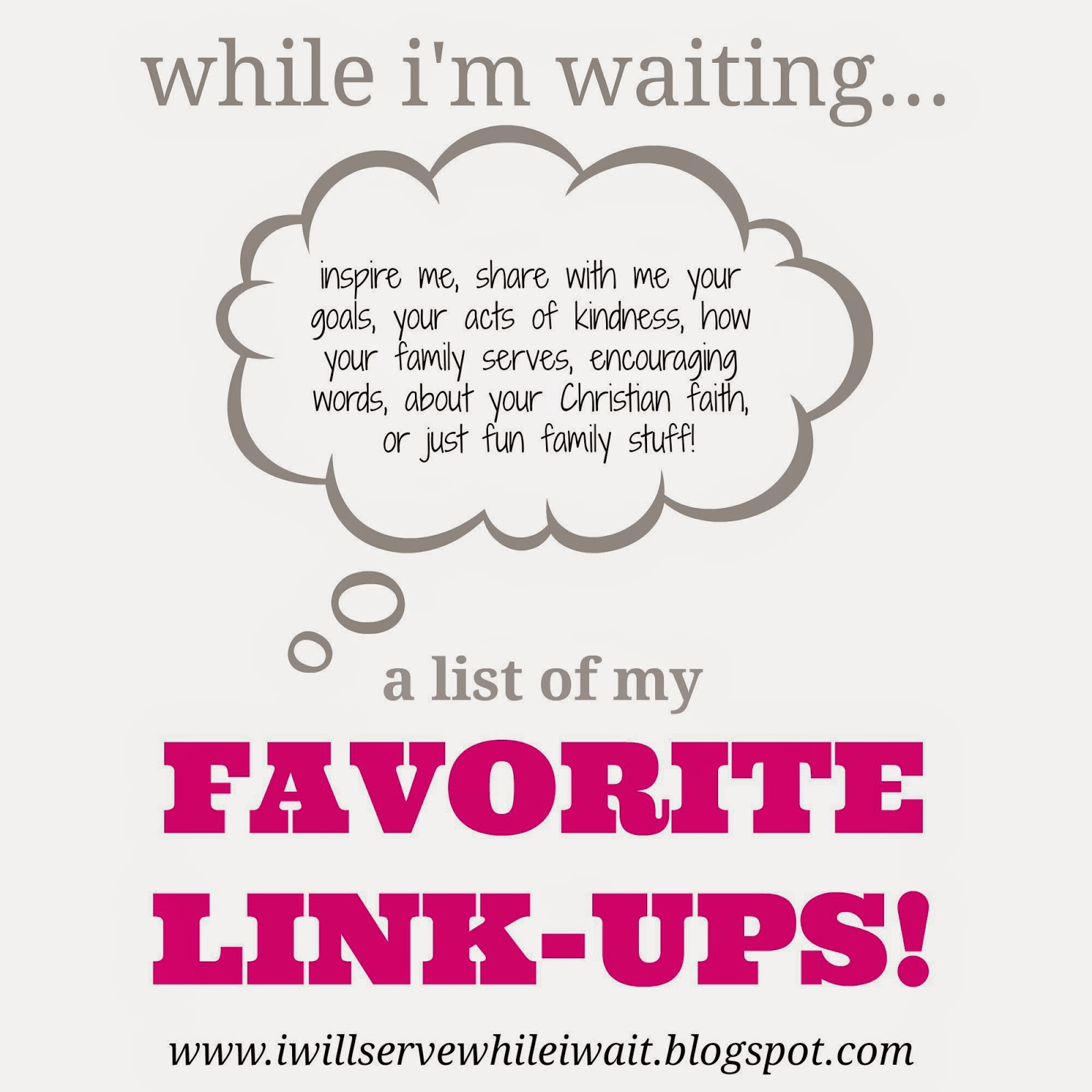 While I'm Waiting...list of favorite linkups