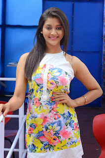 Actress Pooja Jhaveri Latest Picture Shoot Gallery in Floral Short Dress 028