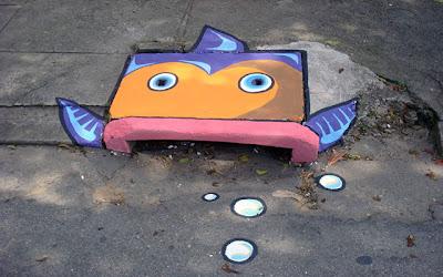 Decorando las calles con 6emeia en Recicla Inventa