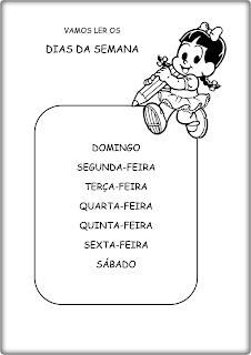 DIAS+DA+SEMANA - Texto para leitura