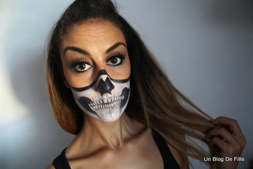 un blog de fille halloween makeup sexy skeleton. Black Bedroom Furniture Sets. Home Design Ideas