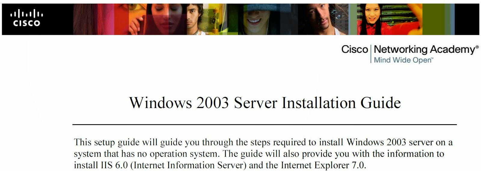 Windows 2003 Server Installation Guide
