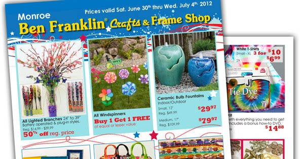 Ben franklin crafts and frame shop monroe wa 4th of for Ben franklin craft store coupons