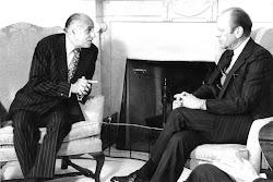 Encuentro con el presidente de los Estados Unidos, Gerald R. Ford.