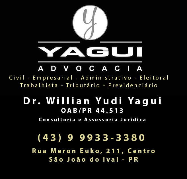 YAGUI ADVOCACIA - ATENDENDO SÃO JOÃO DO IVAÍ E REGIÃO!