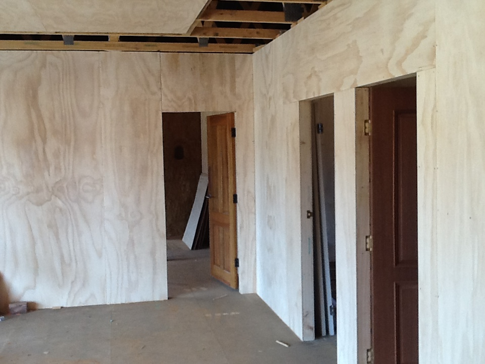 how to finish plywood walls