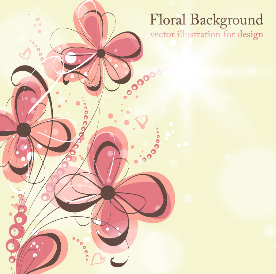 Awesome floral background vector