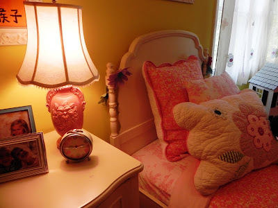 Bedside Lamp Has An Antique Base And Pottery Barn Teens Shade. Clock Is Pottery  Barn Kids.