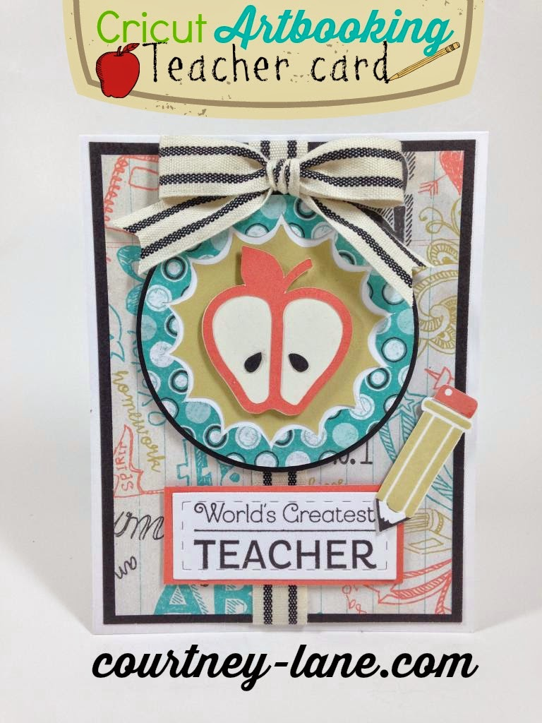 Cricut Artbooking Teacher card