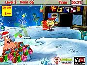Sponge Bob đón giáng sinh, chơi game hoat hinh hay
