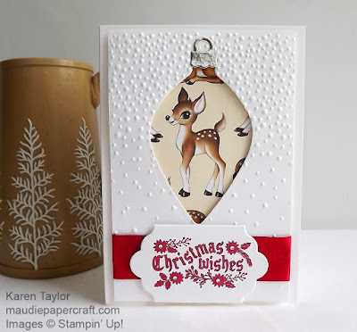 Stampin' Up! Delicate Ornaments, Home for Christmas DSP
